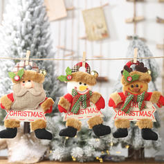 Snowman Reindeer Santa Christmas Hanging Cloth Tree Hanging Ornaments
