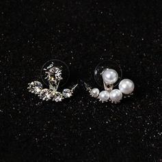 Niza Aleación La perla de faux con Perlas de imitación Señoras' Pendientes de la manera