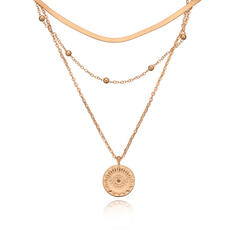 Delicate Alloy With Coin Necklaces 3 PCS