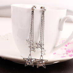 Fashionable Alloy Rhinestones Ladies' Earrings
