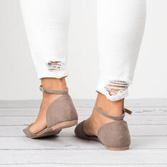 Mulheres Couro Sem salto Sandálias Sem salto com Alça trançada sapatos