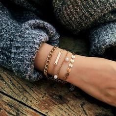 Unique À la mode Alliage Bracelets (Lot de 4)