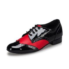 Men's Latin Ballroom Swing Practice Heels Pumps Leatherette Latin