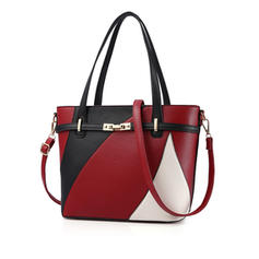 Elegant/Commuting/Splice Color Satchel/Tote Bags/Crossbody Bags/Shoulder Bags