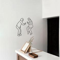 Moderní Svislý Lidé Samolepky na zeď