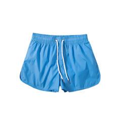 Men's Solid Color Lined Swim Trunks