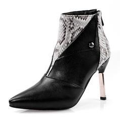 Γυναίκες PU Ψηλό τακούνι Γοβάκια Μπότες Με Φερμουάρ παπούτσια