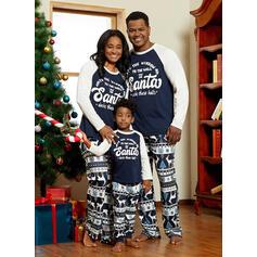 トナカイ 文字 印刷 マッチングファミリー クリスマスパジャマ