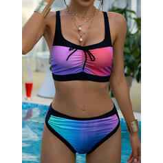 Colorful Gradient Strap Sexy Fashionable Beautiful Bikinis Swimsuits