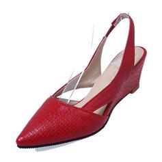 Femmes PVC Talon compensé Escarpins Compensée Escarpins chaussures