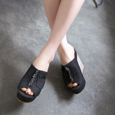 Women's PU Wedge Heel Sandals Wedges Peep Toe shoes