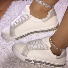 Women's PU Casual Outdoor With Rhinestone Lace-up shoes