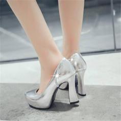 Naisten PU Chunky heel Avokkaat jossa Tekojalokivi kengät