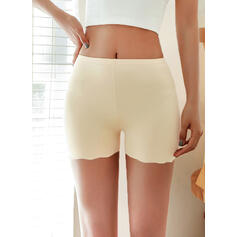 Solid Above Knee Sporty Pants Shorts Leggings