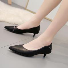 Frauen Microfaser-Leder Stöckel Absatz Absatzschuhe mit Schnalle Schuhe