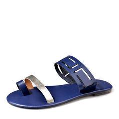 Femmes Cuir en microfibre Talon plat Sandales avec Autres chaussures
