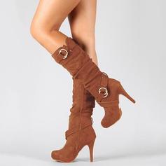 Vrouwen Suede Pumps Laarzen met Rits schoenen