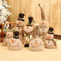 Boże Narodzenie Snowman Lalka Tkanina Dekoracje świąteczne