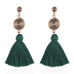 Vintage Alloy Braided Rope Women's Earrings