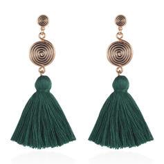 Style Vintage Alliage Corde tressée Femmes Boucles d'oreilles