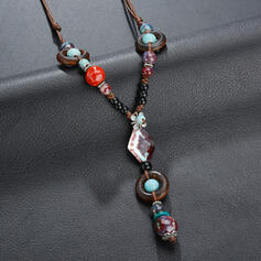 Einzigartig Legierung mit Juwel Frauen Halsketten