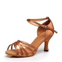 Жіночі Латинський Каблуки Атлас Балетне взуття