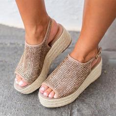 Kvinder Kunstlæder Kile Hæl sandaler Kiler Kigge Tå med Spænde sko