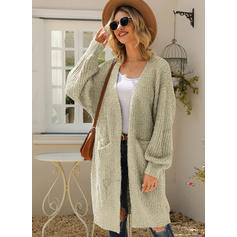 Solid Chunky knit Pocket Cardigan