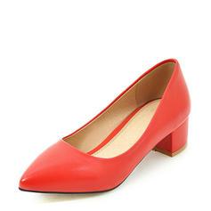Femmes PU Talon bas Escarpins Bout fermé chaussures