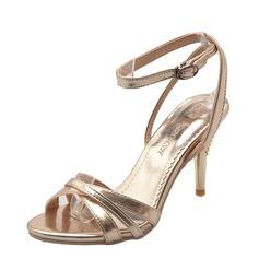 Women's Stiletto Heel Pumps Sandals Beach Wedding Shoes With Buckle
