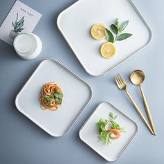 Square Porcelain Dinner Plates