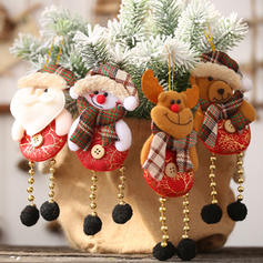 Snowman Reindeer Santa Christmas Hanging Long Leg Cloth Tree Hanging Ornaments