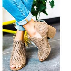 Femmes PU Talon bottier Sandales À bout ouvert avec Autres chaussures