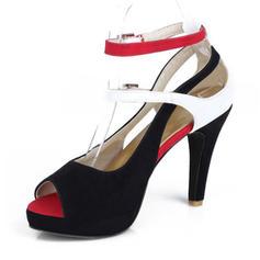 Femmes PU Talon stiletto Sandales Escarpins Plateforme À bout ouvert avec Autres chaussures