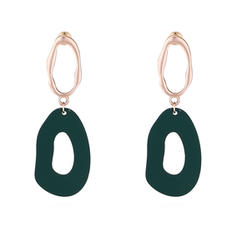Stylish Alloy Acrylic With Acrylic Women's Fashion Earrings (Set of 2)
