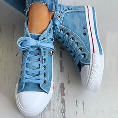 Bayanlar Tuval gündelik Dış mekan atletik Ile Fermuar Bağcıklı ayakkabı ayakkabı