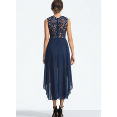 Lace Sleeveless A-line Asymmetrical Elegant Dresses