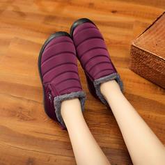 Femmes Toile Talon plat Chaussures plates Bottes avec Autres chaussures