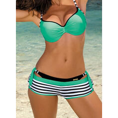 Stripe Push Up Strap Sexy Bikinis Swimsuits