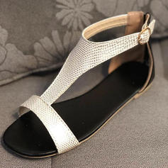 Women's PU Flat Heel Sandals Flats With Others shoes