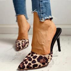 Femmes Talon stiletto Escarpins Bout fermé avec La copie Animale chaussures