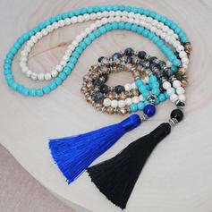 Unique Argent tibétain Natural Stone Turquoise Dames Collier de mode