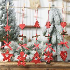 god jul Tre Julevedheng Trehengende ornamenter