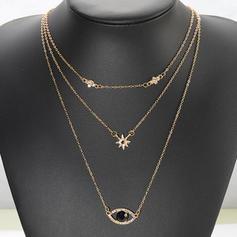 en forma de estrella Aleación Diamantes de imitación Collares