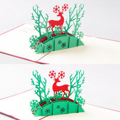 Feliz Navidad Reno 3D Con sobre Papel Para Tarjetas Tarjetas de felicitación Postales Invitaciones