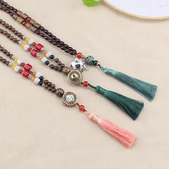 Unique Beautiful Fashionable Lovely Wooden Beads With Resin Necklaces