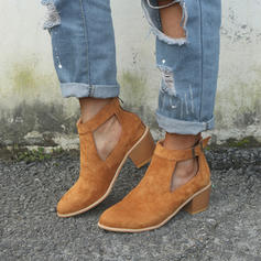 Kvinder Ruskind Stor Hæl sandaler Pumps med Spænde sko