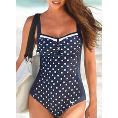 Dot Print Strap Sexy One-piece Swimsuits