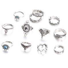 Hottest Fancy Alloy Jewelry Sets Rings (Set of 12 pairs)