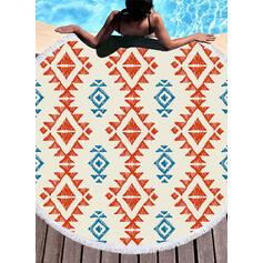 retro / vintage/Geometria Print moda/Boho ręcznik plażowy
